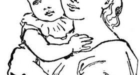 Mothers and Kids Drawing