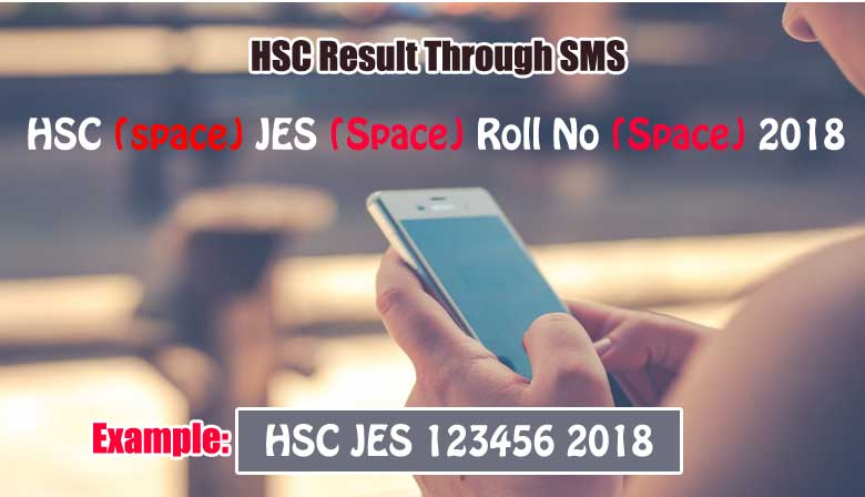 Jessore Board HSC result through SMS