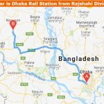 Dhaka to Rajshahi Train Route Map