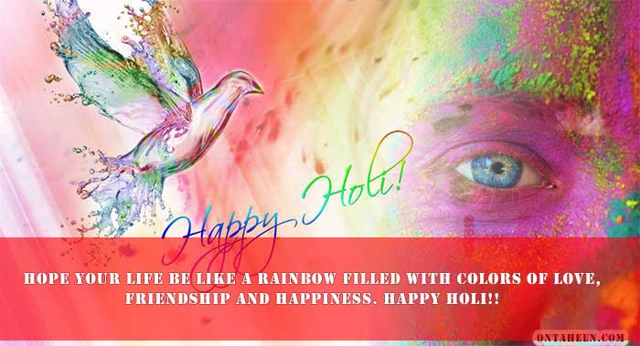 HAPPY HOLI WISHES FOR FACEBOOK WHATSAPP three
