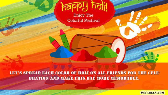 HOLI WISH SMS three
