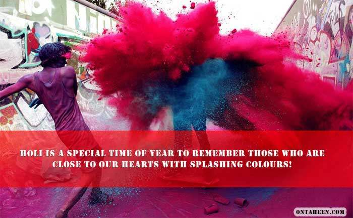 Holi Wishes Quotes One