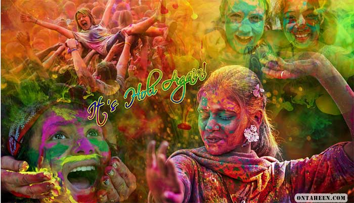 pictures of holi festival in india