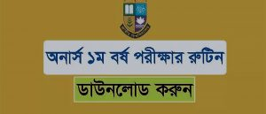 Nu Honours 1st year exam routine download