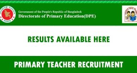 Primary Assistant Teacher Recruitment Result