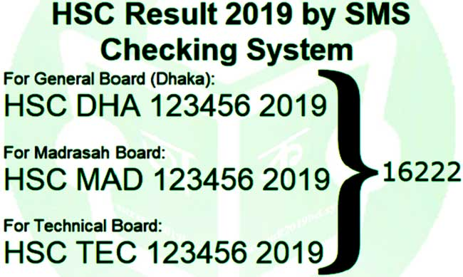 HSC Result Check with Mobile SMS