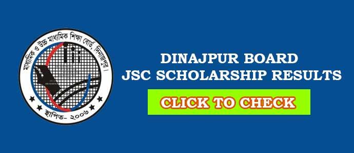 Dinajpur Board JSC Scholarship Result