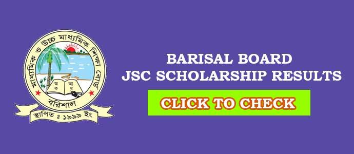 JSC Scholarship Result Barisal Board