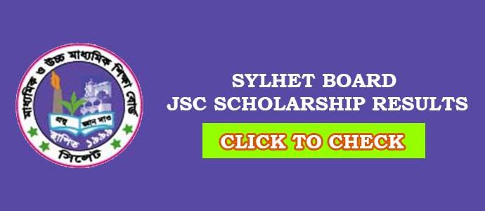 JSC Scholarship Result Sylhet Board