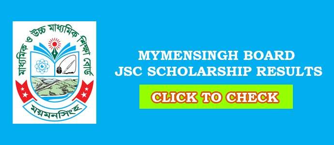 Mymensingh Board JSC Scholarship Result