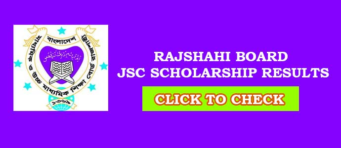 Rajshahi Board JSC Scholarship Result