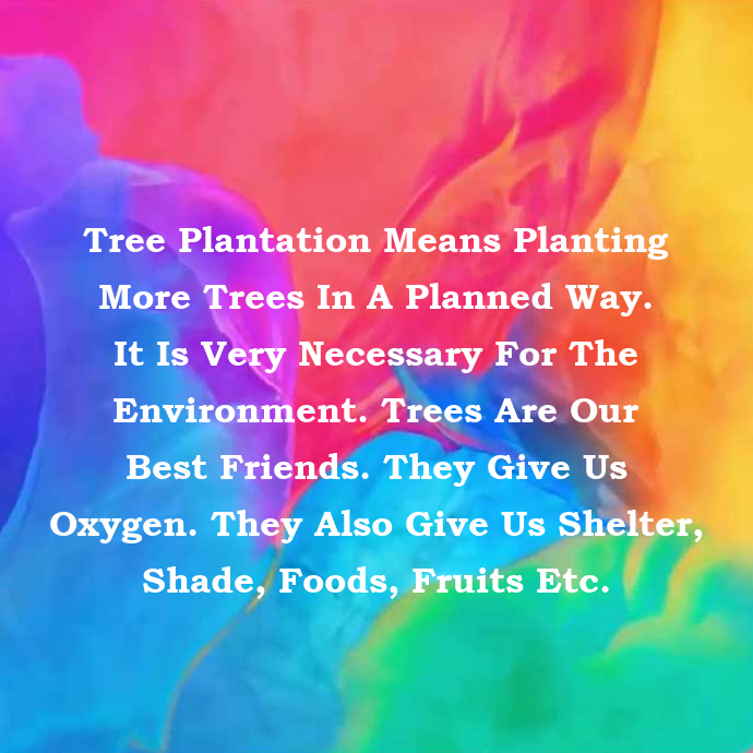 Tree Plantation Paragraph For Class One Image