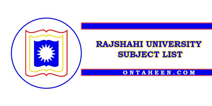 Rajshahi University Sibject List